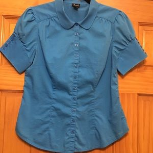 Willi Smith Tops - Willi Smith Blue Career Top - Size Medium